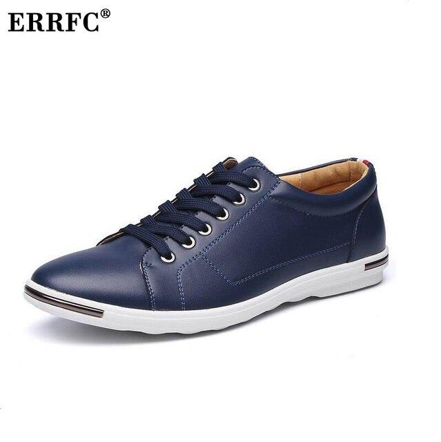 6e4ab6ae1e ERRFC Vendas Amarelo Homens Conforto Sapatos Casuais Dedo Do Pé Redondo  Rendas Até branco PU Sapatos