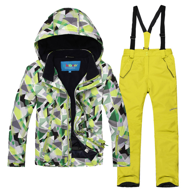 Children Winter Outdoor Waterproof Windbreaker Snowboarding Ski Suits Boys Girls Snow Snowboard Jacket And Pants Kids 6-16 Years