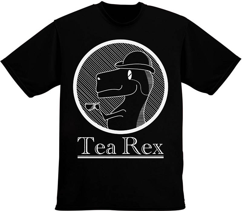 Funny Clothing Casual T Shirts  Tea Rex Drinking Short Women Crew Neck Best Friend