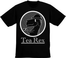 Funny Clothing Casual T Shirts  Tea Rex Drinking Short Women Crew Neck Best Friend