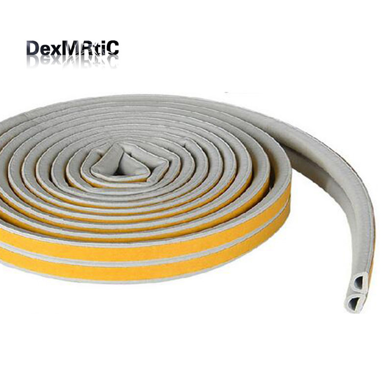 6meters brown Self Adhesive Soundproof Rubber Seal Strip Seal Strip Collision resistant For Doors and Windows cawanerl car sealing strip kit weatherstrip rubber seal edging trim anti noise for nissan almera march micra note pixo platina
