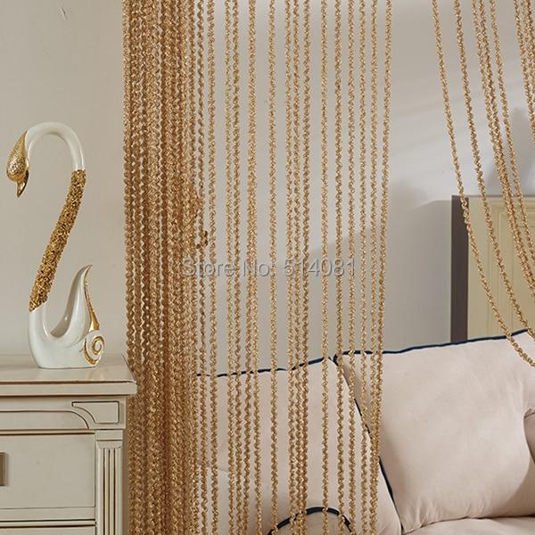 1pcs Light-Coffee Spiral curtain Window Divider Tassel Hanging String Door Curtain