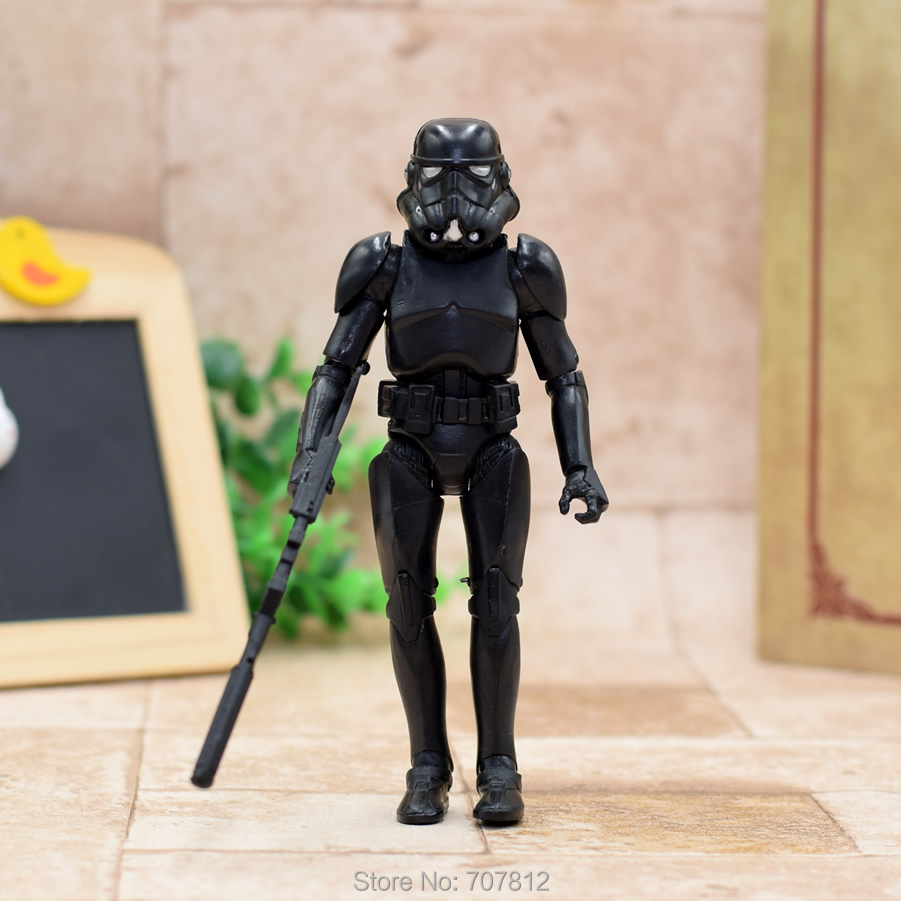 Star Wars Action Figure Black Strom Trooper  16CM  Cool Movie Collection Toy Best Gift ST037 star wars action figure red stromtrooper 16cm cool movie collection toy best gift st033