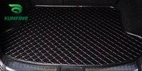 Estilo do carro esteiras tronco para audi q7 tronco forro tapetes tapete bandeja de carga à prova dwaterproof água 4 cores opitional