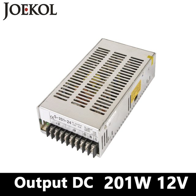 switching power supply,201W 12v 26.5A Single Output smps power supply for Led Strip,AC110V/220V Transformer to DC 12V,led driver