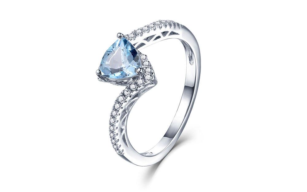 silver blue topaz rings CASR01612SC-1 (2)