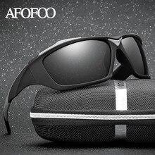 AFOFOO Mens Goggle Polarized Sunglasses Classic Brand Designer Men Driving Mirror Sun glasses Women UV400 Shades Eyewear