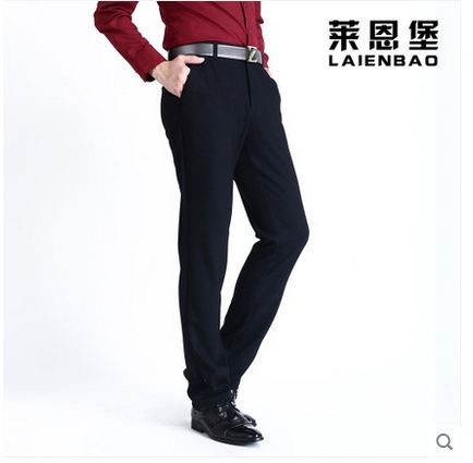Free shipping!Mens trouser fall straight business and leisure travelers big yard stretch pants deep profile of tall waist thick