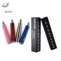 2pcs/lot Clover Overlord 2600mah 3.3v-4.8v Variable Voltage Battery Ego Thread e cigarette Battery vapor Electronic cigarette