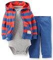 TZ-264 2015 новый baby boy одежда 3-piece set дети мальчики одежды костюм пальто + брюки + комбинезон детской одежды