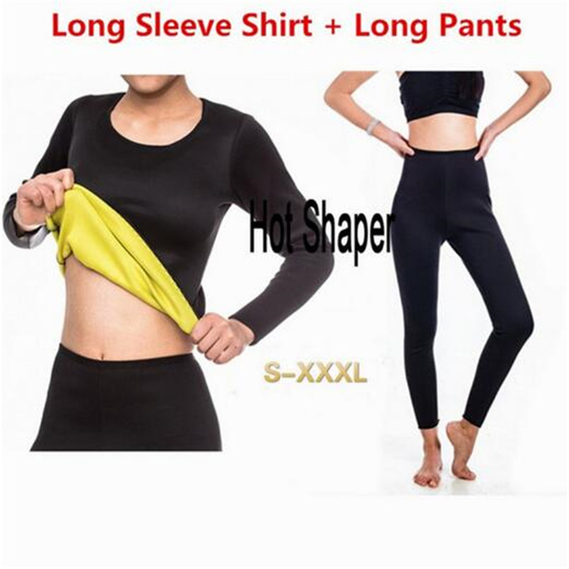 Hot Slimming Shaper Pants Neoprene Slim Fat Burning Weight Loss Natural Waist Trainer Neoprene Detox Workout Body Shapers Shirt image