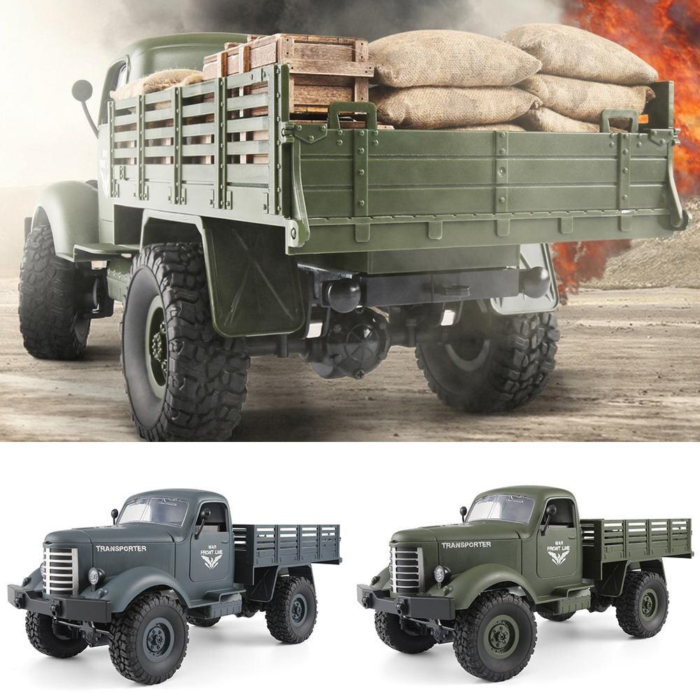 4 roues Motrices Télécommande Militaire Camion Hors-Route RC Modèle De Voiture Télécommande Escalade Voiture RTR Cadeau Jouet