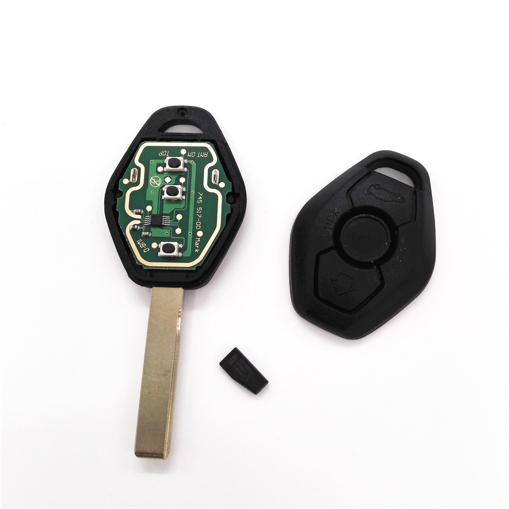 HKCYSEA ID44 433/315 MHz Chip FOR BMW X3 X5 E38 E39 E46 EWS HU92 Blade With LOGO