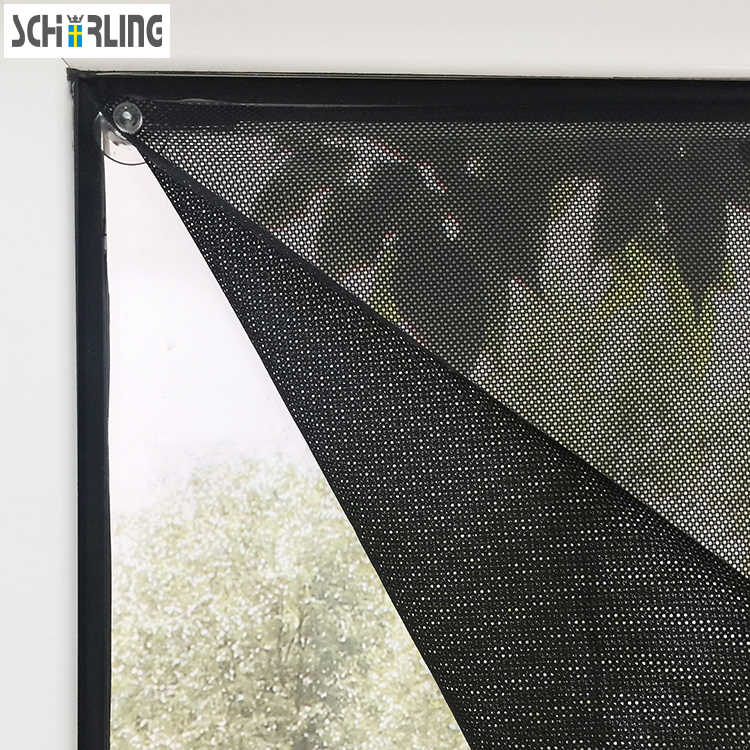 Customized Size Sunshade Window Curtains Mesh fabric with Suction cup Black Color Car Shade with Strong Suction Easy to install