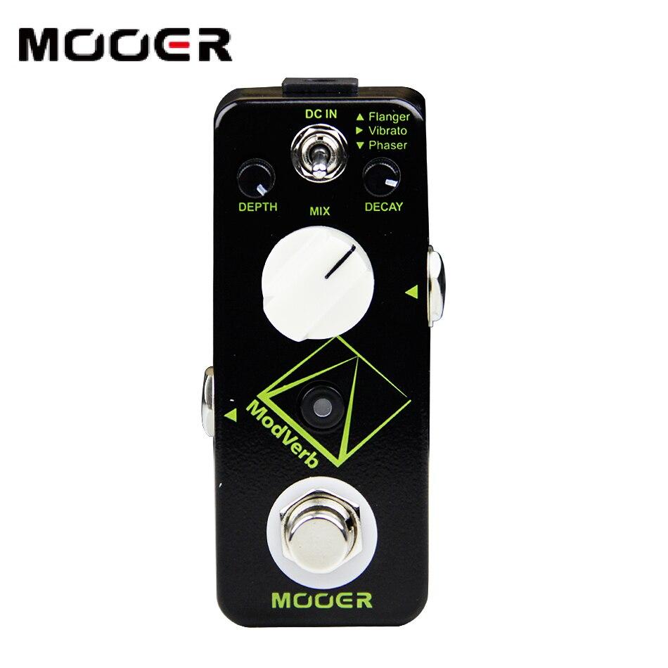 MOOER Modverb modulation Reverb pédale guitare pédale Congelés fonctionnalité 3 types de modulation