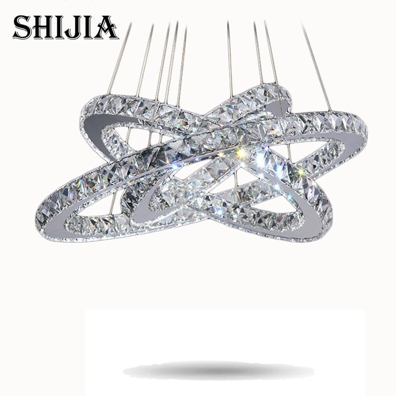 Hot sale Diamond Ring LED Crystal Chandelier Light Modern LED Lighting Circles Lamp 100% Guarantee Fast and Free Shipping hot sale diamond ring led crystal chandelier light modern pendant lamp 100