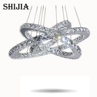 Hot Sale Diamond Ring LED Crystal Chandelier Light Modern LED Lighting Circles Lamp 100 Guarantee Fast