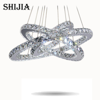 Hot Sale Diamond Ring LED Crystal Chandelier Light Modern LED Lighting Circles Lamp 100 Guarantee Fast