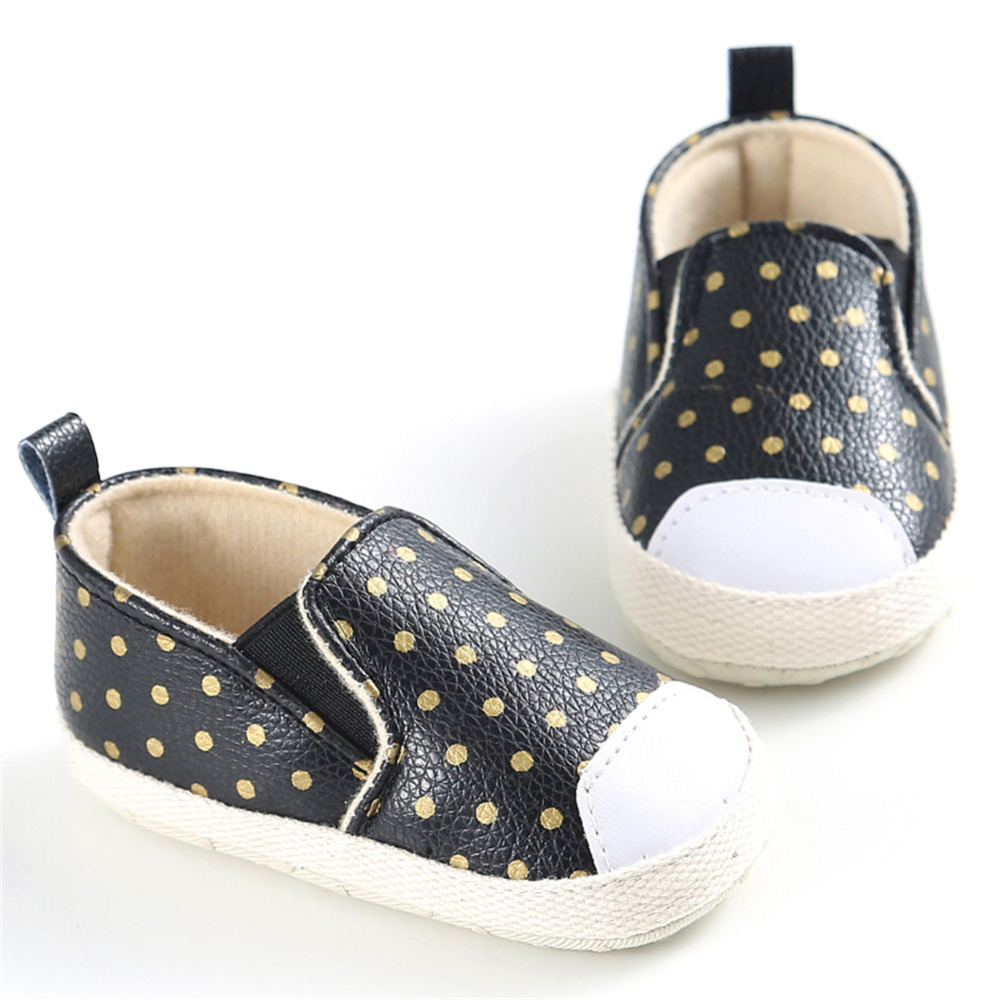 Infants Prewalkers Baby Boy Girl Soft Sole Crib Shoes Wave point Casual Anti-slip First  ...