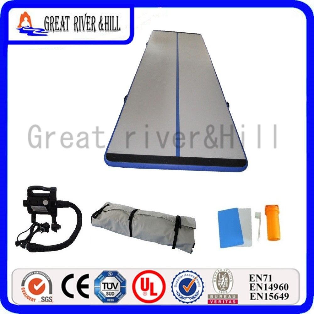 Great river hill gym mat inflatable air track durale mat 6m x 1.8m x 10cm