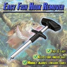 Portable Aluminum Tube Easy Fish Hook Remover New Fishing To