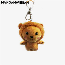 Newest Arrival Mini Plush Lion Toy Charm Pendant Cute Lions DIY Kids For Girlfriend Gifts Doll 10CM 2019 Hot New 1PCS