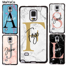 PERSONALISED MARBLE INITIAL NAME Case For Samsung Galaxy A50 A51 A71 A7 A70 A10