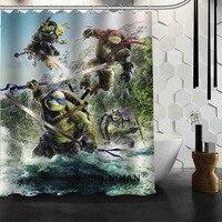 Teenage mutant ninja turtles produto Banheiro Cortina de Chuveiro de Alta Qualidade Cortina De Banho De Tecido Personalizado