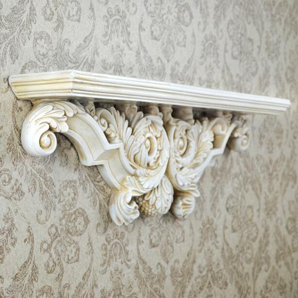 European Resin Wall Shelf Wall Stickers creative Wall Hangings 3D bars clubs home wall decoration TV