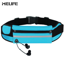 MELIFE Outdoor Running Waist Bags Waterproof For Mobile Phone Jogging Belt Belly Bag Women Gym Fitness bag Lady Sports pocket