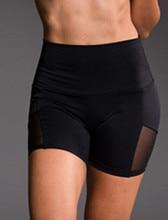 Women's High Waist Sports Short Workout Running Fitness Leggings Female Mesh Shorts Gym Yoga Leggings With Side Pocket