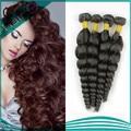 """5а девственные волосы пучок наносит свободная волна необработанные девственницы индийские человеческих волос 8 """" - 32 """" смешанная длина 6 шт. много"""