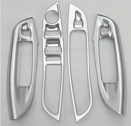 4 pièces voiture style ABS Chrome lève-vitre bouton décoration lumière housse autocollants pour Ford Focus 2015 accessoires