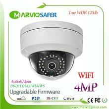 Английский 4MP Открытый Беспроводной WI-FI Сети Ip-камера DS-2CD2142FWD-IWS WI-FI IPCam Camaras, POE Звуковая Сигнализация
