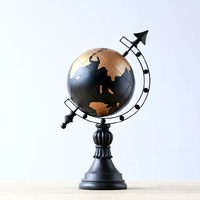 Arts and crafts resin furnishing articles that can rotate the A globe Vintage home decor Zakka 39*25*12cm