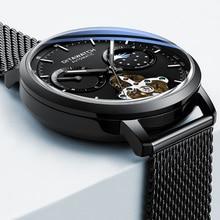 2019 relojes oem часы логотип tourbillon автоматические механические нержавеющая сталь наручные для мужчин часы ручной браслет