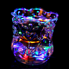 YANXIN 1PCS Funny Colorful Wine Cup Water Cup Flash Cups LED Luminous Pineapple Cup For Bars Discos Leisure Parties Dating Mug