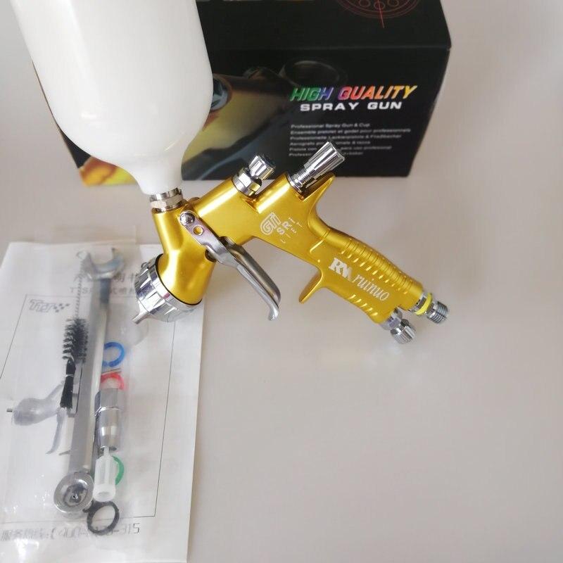 hvlp professional automotive spray gun air spraygun airbrush pro lite golden TE20 1 3mm
