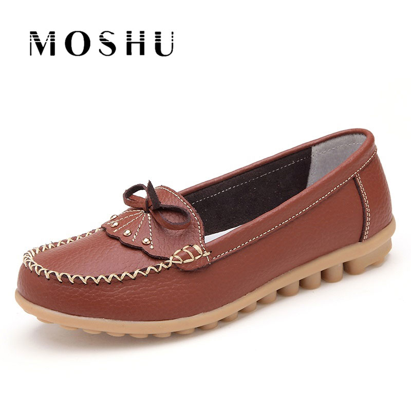 Women Butterfly Knot Ballet Flats Antiskid Moccasins Elegant Driving Shoes Loafers Slip On Female Casual Shoes Sapato Feminino women s genuine leather slip on loafers brand designer flats moccasins leisure espadrilles antiskid comfortable shoes for women
