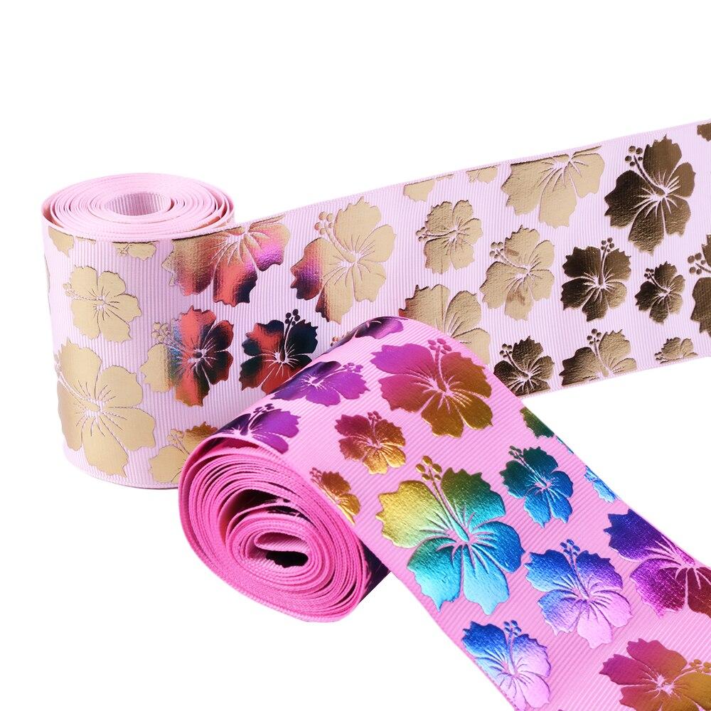 "75 mm Colorful Bowknot Printed Grosgrain Ribbon DIY Hairbow Materials 2Yards 3/"""