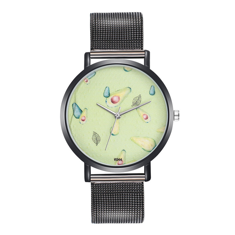 MJARTORIA Avocado Steel Quartz Clock Brand Women Ultra Thin Wristwatch Men Business Bracelet Watch Couple Watch Reloj Mujer Gift