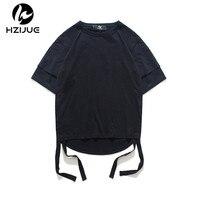 HZIJUE 2017 Hip Hop Brand Clothing Men T Shirt Original Design Top Street Wear Male Solid