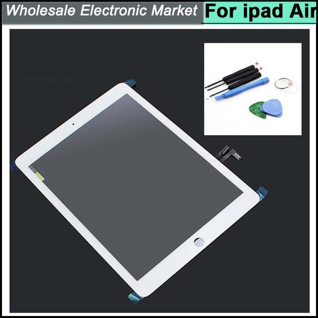 100% White Original Touch Screen Digitizer with Tools Assembly for iPad Air A1475 A1474 free shipping