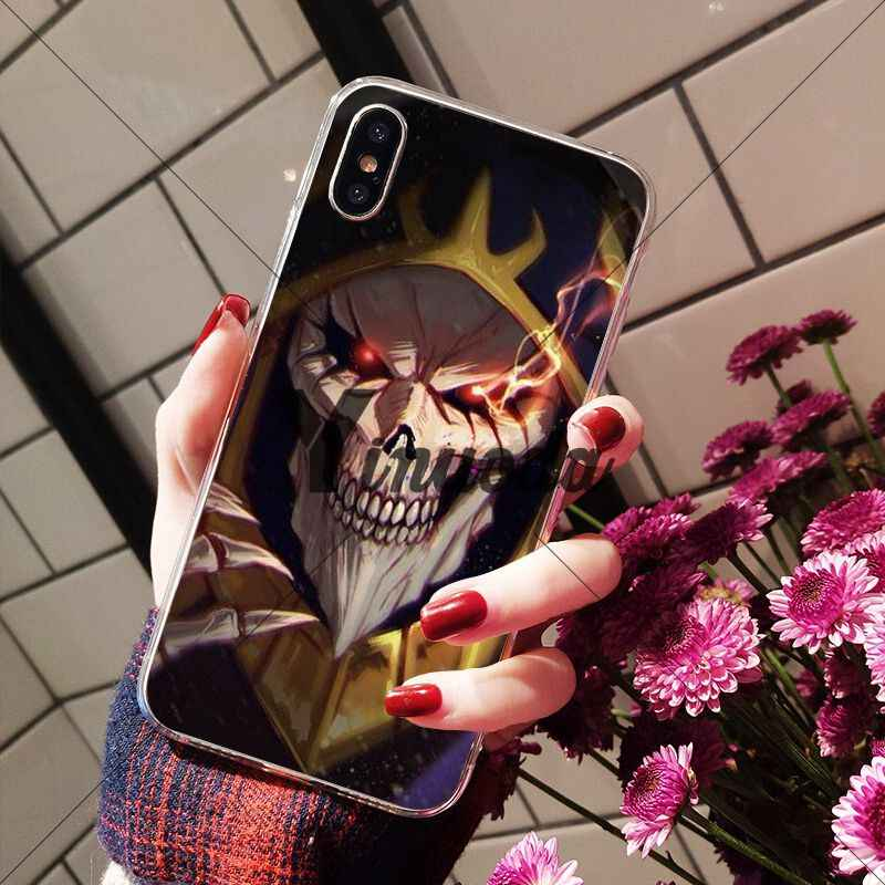 Yinuoda Anime Overlord Coque Vỏ Ốp Lưng điện thoại Apple iPhone 8 7 6 6S 6S Plus X XS MAX 5 5 5S SE XR Bao