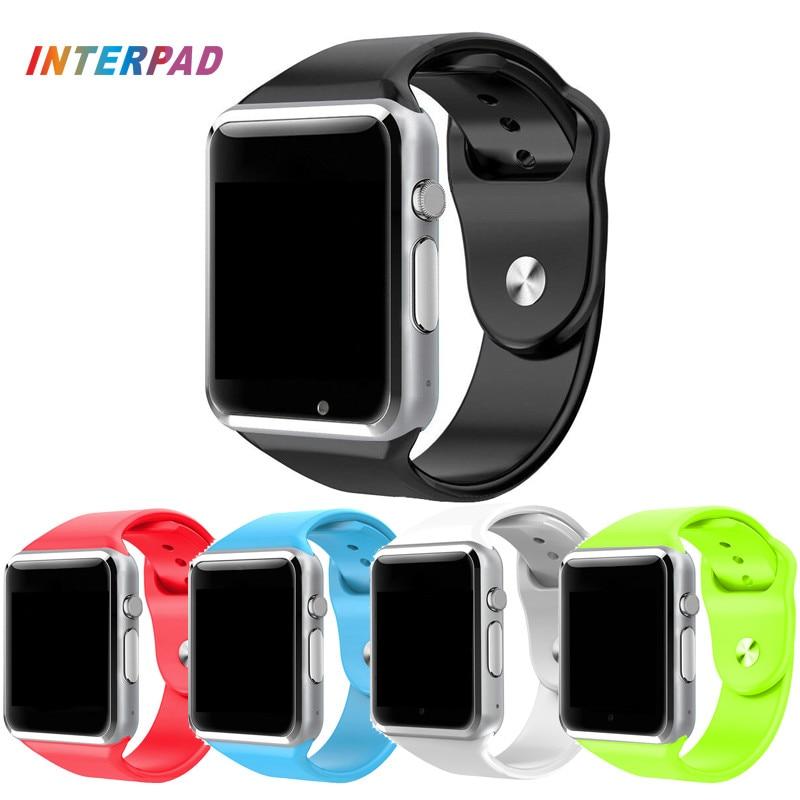 imágenes para 2017 El Mejor Arte Y Material A1 Reloj Inteligente Reloj de Sincronización Notificador Apoyo TF Tarjeta SIM Conectividad Android Smartwatch Teléfono A1