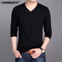 COODRONY 100 Cotton T Shirt Men 2017 Spring Autumn New Long Sleeve T Shirt Men Classic