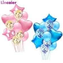 14 adet Karışık Balonlar Çocuklar Doğum Günü Partisi Malzemeleri Masa Dekorasyon Unicorn Bebek Duş Çocuk Kız Düğün Partiler Süslemeleri