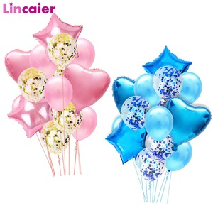 Image 1 - 14pcs Mixed Balloons Kids Birthday Party Supplies Table Decoration Unicorn Baby Shower Boy Girl Wedding Parties Decorations