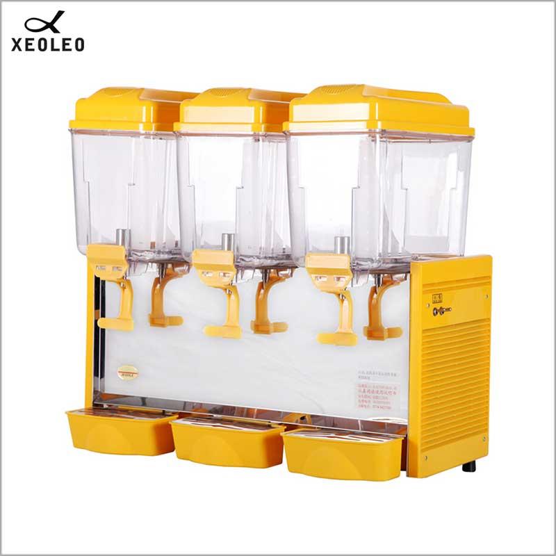 XEOLEO Three Jars Cold&Hot Drink Dispenser 3*12L Juice Dispenser  Fountain Type Fruit Juice Dispenser Beverage Machine  200V