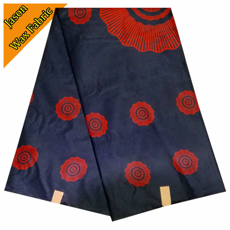 100% Polyester African super wax prints fabric veritable real wax cloth 6yards/lot for dress LBL
